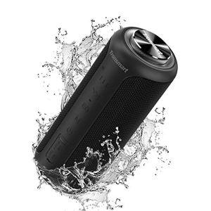 Tronsmart T6 Plus Version Améliorée Haut-Parleur Bluetooth 40W,Enceinte Portable d'extérieur avec 6600mAh Powerbank, étanche IPX6,TWS Stéréo & 360° Basse,Autonomie 15H,Speaker Bluetooth 5.0,Noir