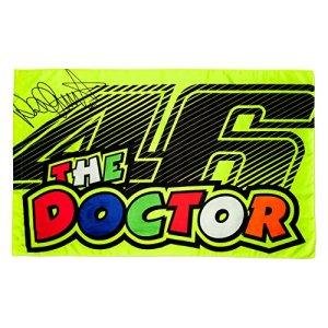 Valentino Rossi VR46 Moto GP The Doctor Jaune Drapeau Officiel 2017