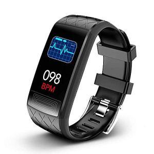 Clearlove77 Dormir Montre-Bracelet,Fréquence Cardiaque Montre électronique,Étanche Fitness Tracker,Tracker Montre Connectée,Bluetooth Informations Noir