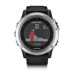Garmin Fēnix 3 Silver HR Cardio Poignet – Montre GPS Multisports Outdoor – Bracelet Silicone Noir