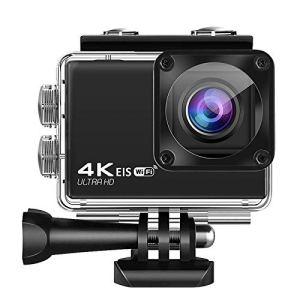 HYZY Caméra Sportif Vrai 4K Anti-Shake Caméra WiFi Sports De Plein Air HD Grand Angle 40M Plongée Portable Appareil Photo Numérique
