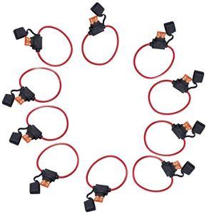 Lomsarsh 10x Porte-fusible Standard, épreuve 40a, câble 12 AWG, en rangée, Auto