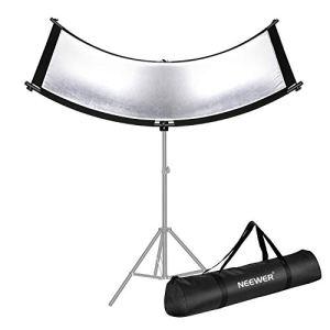 Neewer Réflecteur Diffuseur de Lumière U-Type pour Studio et Photographie Situation avec Etui de Transport, Réflecteur Courbé Arclight 167x61cm en Noir/Blanc/Or/Argenté(Support de lumière non inclus)