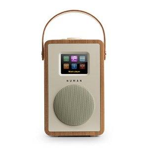 Numan Mini Two Noyer Edition – Radio Internet Design, Rétro Noyer, Lecteur média, Dab/Dab Plus/FM, TFT, RDS, WiFi/LAN, BT, Brun