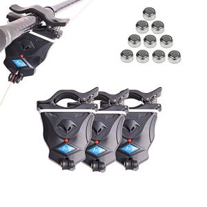 Shackcom LSS-2 Alarmes de Touche de la Canne à Pêche Détecteur Electronique Sensible Sondeur avec Indicateur LED pour Pêche Carpe Pêche Maritime Nocturne Pêche d'Eau Douce Pêcheur Amateurs Débutants