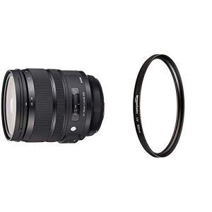 Sigma Objectif 24-70mm F2,8 DG OS HSM Art – Monture Canon & AmazonBasics Filtre de Protection UV – 82mm