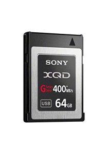 Sony XQD QDG64A Carte mémoire Flash avec Adaptateur USB Série G (Lecture 440Mo/s et écriture 350Mo/s)