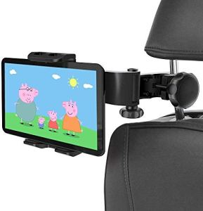 Support Tablette Voiture, HUNDA Support Appuie-tête de Voiture, 360° Rotation Porte Tablette Voiture pour 4.5-11 Pouces Tablette iPad 2/3/4 / Mini/Air, Kindle Fire d'autres, Noir