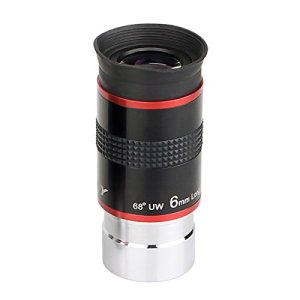 Svbony Telescope Oculaire 1,25″ Lentille Telescope Oculaire 6mm FMC Oculaire 68° Super Grand Angle Oculaire pour Telescope Astronomique (6mm)