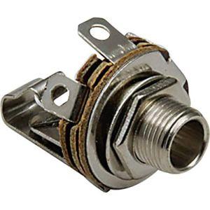 TRU Components Jack 3.5 mm embase Femelle, Verticale TC-2517003 Nombre de pôles: 2 Mono Argent 100 pc(s)