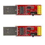 2 adaptateurs USB vers ESP-01, ESP8266 sans fil Wi-Fi CH340G, UART PORG, 4,5-5,5 V, 115200 Baud Rate