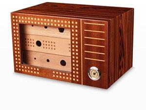 Boîte à cigares – cigare en bois de cèdre humidor grande capacité à trois couches boîte à cigares fumer le cigare humidificateur humidificateur de boîte à cigaresc RVTYR (Color : B)