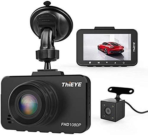 Caméra de tableau de bord Full HD 1080p Full HD 1080p avec capteur G caméra de tableau de bord de voiture 2,45 pouces Vidéo de surveillance réelle 1080p HDR avec capteur de caméra de recul