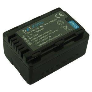 Dot.Foto Remplacement pour Panasonic VW-VBK180, VW-VBK180E-K Batterie avec InfoChip – 3,7v / 1790mAh – Garantie de 2 Ans – Panasonic HC-V10, HC-V100, HC-V100M, HC-V500, HC-V500M, HC-V700, HC-V700M
