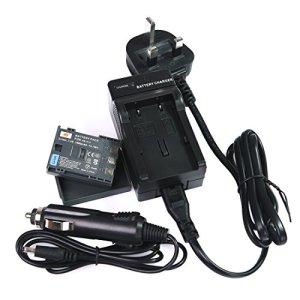 DSTE® DC18U (EU et UK Prise) Chargeur + NB-2LH de remplacement Li-ion Batterie pour Canon NB-2L, NB-2LH, BP-2L5, BP-2LH, PowerShot G7, G9, S30, S40, S45, S50, S60, S70, S80, DC410, DC420, VIXIA HF R10, HF R100, HF R11, EOS 350D, 400D, Digital Rebel XT, XTi