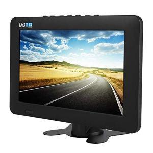 Eboxer Téléviseur Portable TV Numérique de Voiture DVB-T / T2 TV Analogique 1080P, Support ATV/AV/Carte TF/Port USB pour Voiture Camping Maison(9 Pouces)