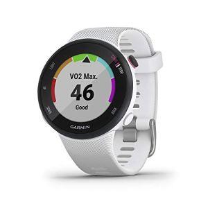 Garmin – Forerunner 45 – Montre de course à pied avec prise en charge des programmes d'entraînement Garmin Coach – Small, Blanche