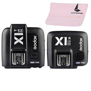 Godox X1N Flash Déclencheur Trigger Kit Emetteur avec Récepteur HSS 1/8000s i-TTL Sans Fil 2.4G pour Nikon DSLR Caméras