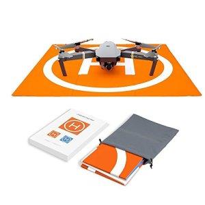 Hensych RC Drone Landing Pad étanche Portable Pliable Tapis d'atterrissage pour DJI Mavic Air avec sac de rangement de transport, double face Motif coloré