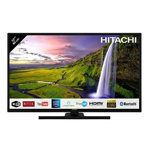 Hitachi Téléviseur LED 32″ 80,01cm Full HD avec Alexa/Smart TV: Netflix, Youtube, Prime/WiFi/Bluetooth / 3 HDMI/PC/USB
