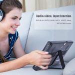 Jimfoty Télévision numérique Ultra Mince à la Mode, TV LED HD TFT Couleur 10 Pouces, Prise en Charge PVR, pour Les Voyages