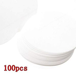 LNIEGE 100PCS Vitesse Moyenne qualitative Cercle Feuille Filtre Livre Blanc 12.5cm Dia qualitatif Filtres Papier