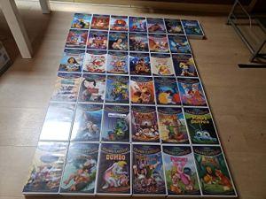 LOT Film 37 K7 Cassette Video VHS Walt Disney LA Collection des Grands Classiques