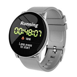 LQLQ Smart Montre pour Les Hommes et Les Femmes, avec Moniteur de fréquence Cardiaque, imperméable à l'eau, téléphone, Pense-bête Météo, Fitness Watch, Bluetooth Smart Montre,B