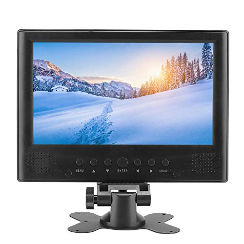 Moniteur Portable 9 Pouces, écran Couleur TFT-LED 1080P, TV numérique Portable, Haut-Parleur Rond intégré 2 – MKV, MOV, AVI, WMV, MP4, FLV, MPEG1-4, MP3, Carte mémoire, U Disk HD TV