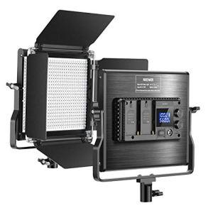 Neewer 660 LED Panneau Version Améliorée – Lumière Vidéo Photo Réglable avec LCD, Eclairage LED pour Studio Vidéo Youtube Photographie Produit, 660 LED CRI 96+, avec Support U et Coupeflux