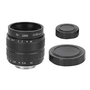 Objectif de la Caméra Verre Optique 50 mm F1.4 C Mont MC Revêtement de Film Multicouche Ouverture Manuelle Photographie CCTV Objectif de la Caméra(Noir)