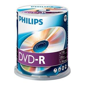 PHILIPS DM4S6B00F – 100 x DVD-R – 4.7 GB (120 Min.) 16x