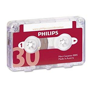PHILIPS Lot de 10 Mini-cassettes pour Machine à Dicter 2 x 15 minutes (LFH 005)