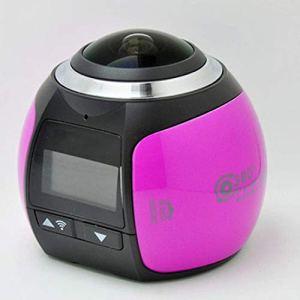 QAS 360 caméra panoramique – enregistreur de Conduite caméra sous-Marine VR – caméra numérique de Mouvement caméra – 360 Sports DV,Rose,A