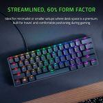 Razer Huntsman Mini (Purple Switch): clavier de jeu compact (clavier compact 60% avec commutateurs opto-mécaniques Clicky, touches PBT, câble USB-C détachable) – US Layout