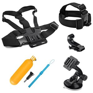 SHOOT 7-en-1 Accessories Pack Kit d'accessoires Bâton Flottantde Plongée pour GoPro Hero 8 Hero 7 Noir Argent Blanc/6/5/4/3 +/3/HERO(2018)/Fusion Crosstour Campark Nouveau APEMAN WiMiUS TecTecTec YI Discovery 4K AKASO Campark Victure