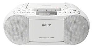 Sony CFD-S70 Lecteur CD Personnel Blanc – Lecteurs de CD (3,4 W, 87,5-108 MHz, FM,MW, Cassette, Lecteur CD Personnel, Blanc)