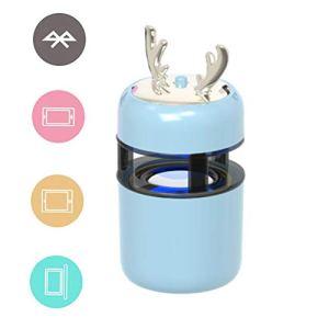 T ECH Mignon Haut-Parleur Bluetooth Animal, Mini TWS Bluetooth 5.0 Cadeau Créatif Retardateur De Téléphone Mobile Haut-Parleur Portable Subwoofer Mobile Connecté Haut-Parleur sans Fil Audio,Bleu