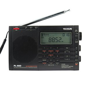 TECSUN PL-660 Dual Conversion Portable Digital Radio FM Stereo/MW/SW/LW/SSB/Air Band Receiver Time Display Alarm Clock Good Choice for Navigation and Amateur Radio Enthusiasts (660EU-Black)