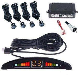 Tempo di Saldi® Kit 4capteurs de stationnement pour voiture avec écran sonore LED sonore à peindre