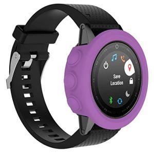 Yun AYC Montre Smart Watch Protection en Silicone Cas, hôte Non Inclus for Garmin Fenix 5S (Blanc) (Color : Purple)