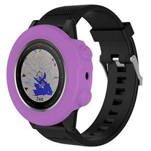 Yun AYC Montre Smart Watch Protection en Silicone Cas, hôte Non Inclus for Garmin Fenix 5X (Blanc) (Color : Purple)
