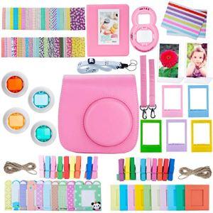ZWOOS 13 en 1 Caméra Bundles, Accessoires pour Fujifilm Instax Mini 8/ Mini 9(Flamingo Pink)