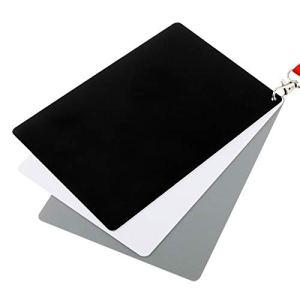 3 en 1 Blanc Noir Gris solde de la carte / numérique carte grise avec sangle, Fonctionne avec tout appareil photo numérique, forme de fichier: RAW et JPEG, Taille: 8,7 cm x 5,5 cm Haute qualité