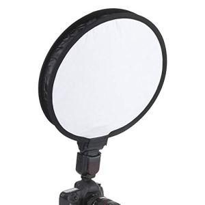 Elprico Diffuseur de boîte à lumière, diffuseur de boîte à lumière Speedlite de Forme Ronde Pliable Portable de 40 CM pour Fournitures de Photographie Accessoires de Flash pour Appareil Photo