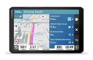 Garmin dēzl LGV800 MT-S – GPS Poids Lourds – 8 Pouces – Carte Europe 46 Pays – Trafic Via Smartphone – Répertoire de Services – Appels Mains Libres – Commande vocale