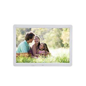 LICIDI Cadre Photo numérique HD 15,4 inch Corps Humain Résolution Multi-Fonction 1280 * 800 Télécommande et Cadre Photo électronique,White