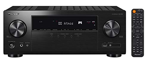 Pioneer VSX-934 Récepteur AV 7.2 (7×160 Watt, Dolby Atmos, DTS:X, Dolby Atmos Height Virtualizer, Sonos, Zone 2, AirPlay 2, Bluetooth, USB), Noir