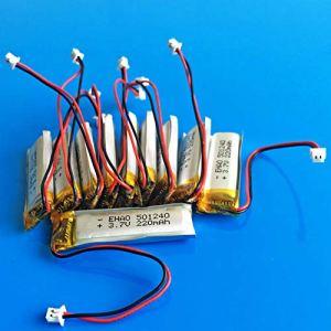 rpbll 10 pièces 501240 JST 1.25mm 3.7V 220mAh Lithium polymère li ION Batterie Rechargeable pour MP3 GPS Bluetooth Casque vidéo Stylo