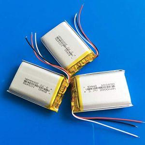rpbll 3 pièces 103450 3 Fils 2000mAh 3.7V lipo polymère Batterie au Lithium Rechargeable pour MP3 GPS navigateur DVD Casque e-Book caméra